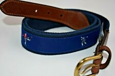 Brooks Brothers Men's Football Braided and Leather Madras Belt (M)