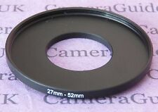 27mm to 52mm Male-Female Stepping Step Up Filter Ring Adapter UK 27mm-52mm