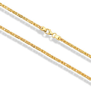 Echte Goldkette Königskette 585 Gelbgold 14 Karat König Kette 60cm - 2,6mm Neu