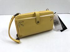 Sakroots SAK Leather Smartphone Holden Wristlet Crossbody Wallet Sunlight Yellow