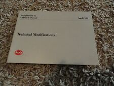 1993 Audi 100  Technical Modifications  Owners Manual Supplement