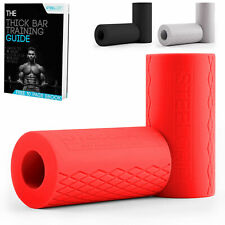 SteelGrip Fat Barbell Grips Dumbbell Thick Silicone Gripz for Strength Training