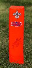New Orleans Saints #9 DREW BREES Signed Autographed Endzone Football Pylon COA