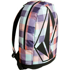 WOMEN'S GIRLS VOLCOM MESSAROUND PURPLE BACKPACK MULTI LOGO  SCHOOL BAG NEW $55