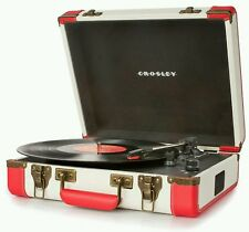 Crosley CR6019D-RE Ejecutivo Portátil USB Giradiscos Tocadiscos Rojo Blanco