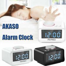 Dual Alarm Clock Usb Radio Digital Fm Radio Brightness Adjustment Snooze option