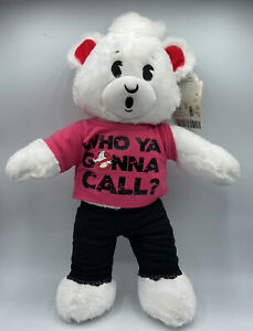 """Ghostbusters Build A Bear White 18"""" Plush Stuffed Ghost BABW Graphic Paws Outfit"""