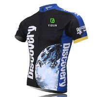 Discovery Channel Cycling Jerseys Men's Mountain Bike Bicycle Shirt Blue S-5XL