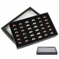 Jewelry Ring Display Organizer Case Tray Holder Earring Storage Box Chic Active
