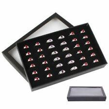 Jewelry Ring Display Organizer Case Tray Holder Earring Storage Box