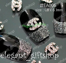 3D Nail Art Tips Decoration Fashion Clear Glitter Rhinestone Alloy Jewelry#EA006