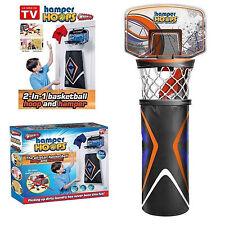 Kids Room Basketball Hoop and Hamper Laundry Clothes Hanging Door Basket Bag