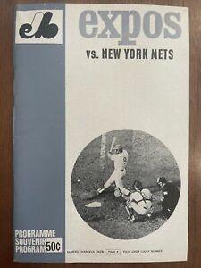 1969 Miracle New York Mets / Montreal Expos Program, In French, COOL!