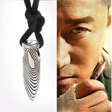 Unisex Men Silver Stainless Steel Bullet Pendant Necklace Chain Jewelry Gift V