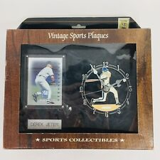 Vintage Sports Plaques Clock Derek Jeter 1998 Donruss Elite Generations Card NIP