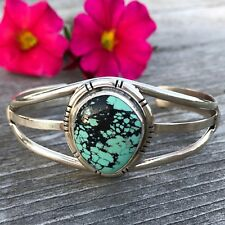 Turquoise Sterling Cuff | Southwestern Bracelet | Spiderweb Turquoise