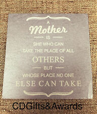 Personalised Laser Engraved Slate Coaster Mothers Day Gift Birthday