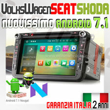 "AUTORADIO 8"" ANDROID 7.1 VW GOLF Navigatore,Gps,Stereo Radio,DAB+,Internet WI..."