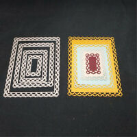 Rectangle Frame Metal Cutting Dies Album Material Etched Paper Card Making DIY