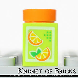 LEGO Minifigure Food ORANGE Juice Carton Friends Kitchen Drink