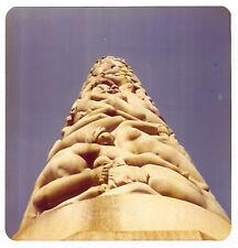 Square Vintage 70s PHOTO Close Up Vigeland Sculpture Park Monolith Oslo Norway