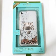 """Kate Spade iphone 7/8 Case """"Shake Things Up"""" Glitter iphone 7 iphone 8 Case NEW"""