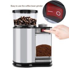 Elektrische Kaffeemühle Edelstahl Kaffemühle Espressomühle Scheibenmahlwerk