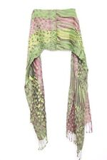 Green Pink Jungle Motives Perfect F Art Events Interesting Different Scarf(s37)