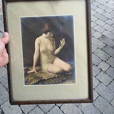 1920's vintage Semi Nude Flapper Girl Art Photo