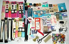 Huge Lot Vintage Sewing Notions~75 + Items~Zippers~Buttons~Sci ssors~Snaps & More