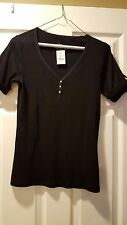 August Silk Women's Black Top, Size Small....Brand New