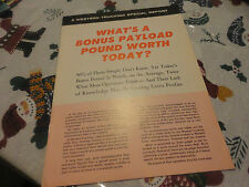 Vintage White Trucks Whats a Bonus Payload Pound Worth Today Brochure