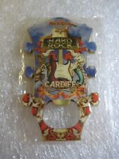 Hard Rock Cafe CARDIFF Guitar Head BOTTLE OPENER MAGNET RARE Closed cafe