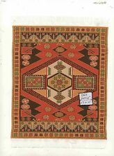 Rug  #2L  miniature dollhouse woven fabric carpet  1pc made in Turkey