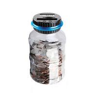 Digital LCD Money Box Bank Large Coin Counting Jar Change Counter Saving Boxes $