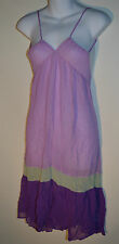Verdissima 100% Silk Spaghetti Nightdress Violet Size XS RRP £88.50