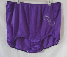 LOT 4 NYLON BRIEF PANTIES EMBROIDERY AT SIDE COTTON CROTCH 4-PURPLE 12
