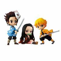 3pcs Anime Demon Slayer: Kimetsu no Yaiba Mini PVC Figure Set New No Box Gift AU