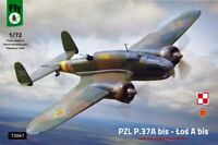PZL 37 A BIS LOS  (RUMANISCHE & POLNISCHE MARKIERUNG)#72041 1/72 FLY NEUHEIT