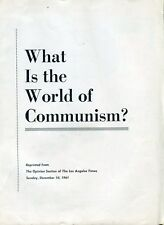 """1961 """"L.A. Times"""" Opinion Publication: """"What Is The World Of Communism?"""""""