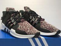 Adidas Originals Mens Size 11.5 Eqt Support Adv Trainers New Black Gray Maroon
