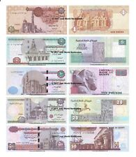 Egypt 1 + 5 + 10 + 20 + 50 Pounds Replacement Set of 5 Banknotes 5 PCS UNC