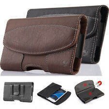 Horizontal Nylon Leather Pouch Case Cover Belt Clip Holster Loop For Cell Phones