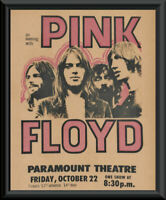 Classic Pink Floyd Rock Concert Poster Reprint On Old Paper *264