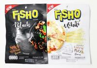 Fisho BLACK+WHITE Spicy Seafood, Double Cheese Pizza Protein Fish Snack Low Fat