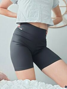 New NIKE DRI FIT black cycling style shorts women M