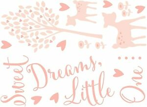 Baby Colours Little Deer Pink Self-Adhesive Wall Stickers - 20 Stickers