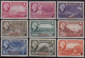 Suriname - Surinam - Set (220-228)  overprinted Specimen Mint never Hinged.