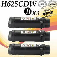 3 PK Black Toner for Dell H625cdw H825cdw S2825cdn H625 H825 S2825 593-BBOW