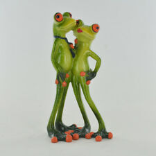 Comical Frogs Couple Lovers Small Resin Figurine Great For Home Gift 80317